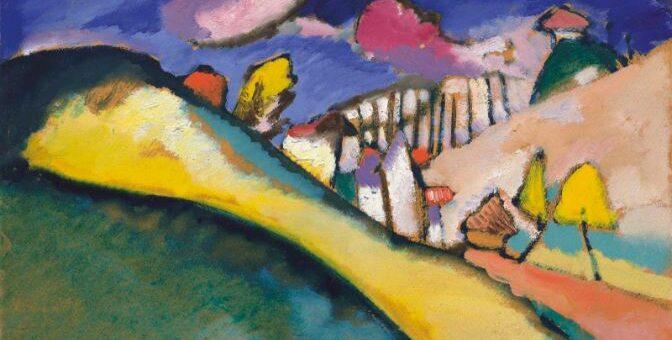 bunte Landschaft - Motiv von Kandinsky