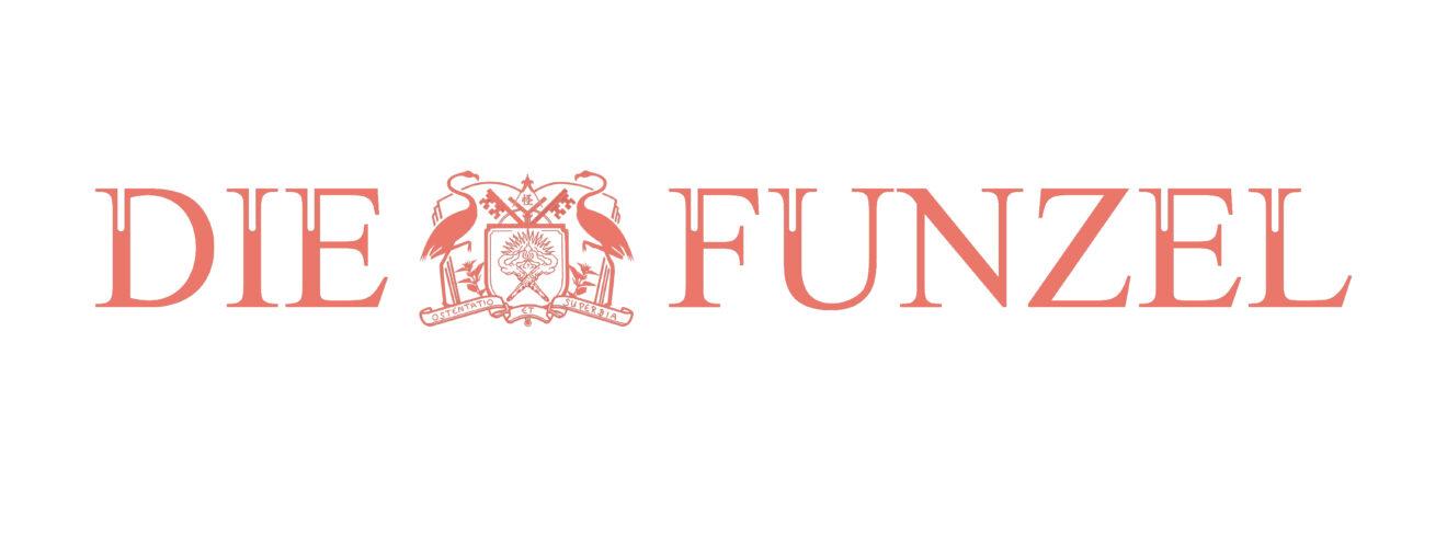 Schriftzug mit Logo: Die Funzel